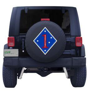 1st Marine Division Logo Tire Cover