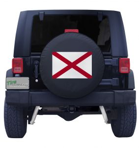 Alabama State Flag Tire Cover Front