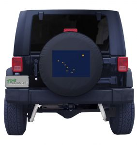 Alaska State Flag Tire Cover Jeep Wrangler