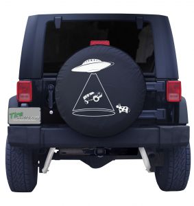 Alien Abduction Spare Tire Cover Front