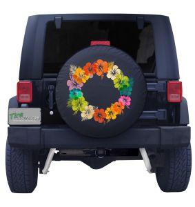 Hawaii Lei Flower Wreath Tire Cover