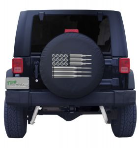 US American Ammo Flag Jeep Tire Cover