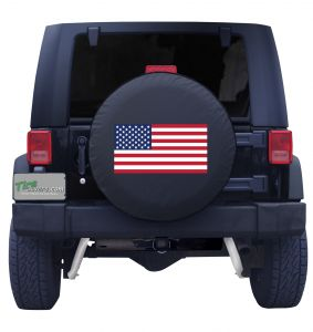 American Flag Tire Cover Front