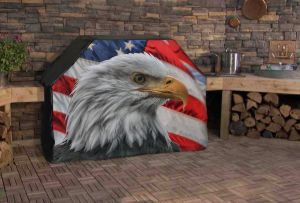 American Eagle Flag Full Grill Cover