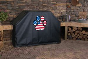 American Flag Dog Paw Grill Cover