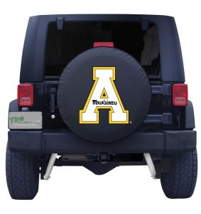Appalacian State University Black Vinyl Spare Tire Cover Front