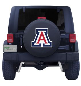 University of Arizona Black Vinyl Spare Tire Cover Front