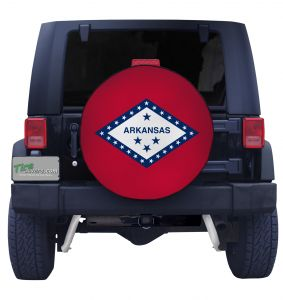Arkansas State Flag Closeup Tire Cover Front