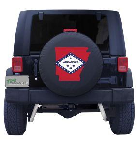 Arkansas State Outline Flag Tire Cover