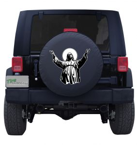 Arms Out Jesus Tire Cover