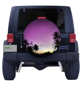 Belize Sunrise Tire Cover