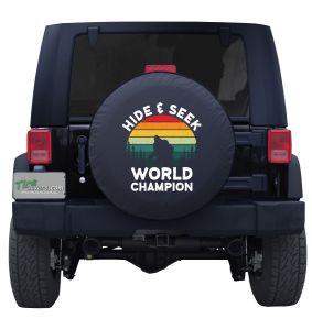 Bigfoot Hide and Seek World Champion Custom Tire Cover