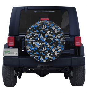 Blue Digital Military Camouflage Tire Cover jeep Wrangler