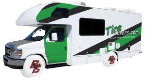 Boston College Logo RV Tire Shade