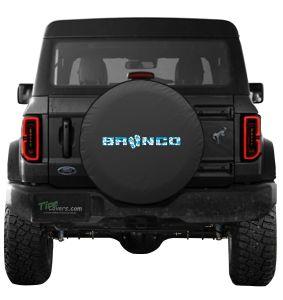 Ford Bronco Aloha Sandals Logo Tire Cover
