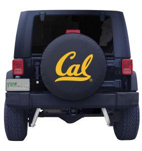 California University Spare Tire Cover on Black Vinyl Front