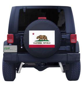 California State Flag Black Vinyl Front View