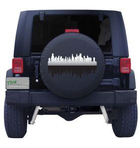 Chicago Illinois Skyline Tire Cover