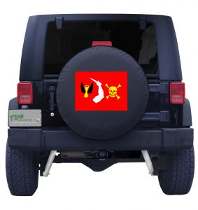 Christopher Moody Pirate Flag Tire Cover