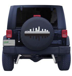 Cleveland Ohio Skyline Tire Cover