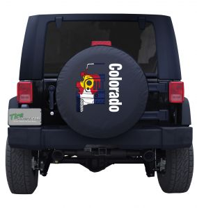 Colorado Jeep Flag Wordmark Tire Cover