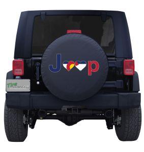 Colorado Jeep Flag Tire Cover