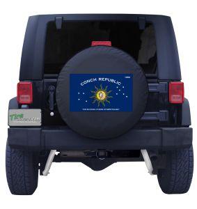Conch Republic Florida Keys Flag Jeep Tire Cover