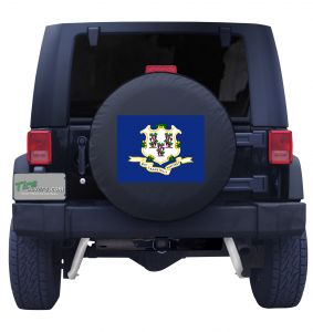 Connecticut State Flag Tire Cover Front
