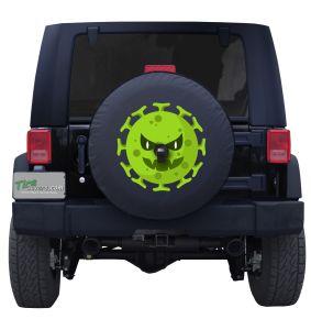 Novel Coronavirus Monster Jeep Wrangler Spare Tire Cover