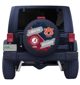 Alabama Crimson Tide & Auburn Tigers House Divided Spare Tire Cover Front