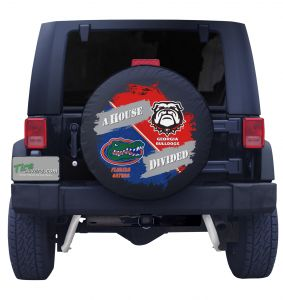 Florida Gators & Georgia Bulldogs House Divided Spare Tire Cover Front