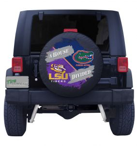 LSU & Florida House divided tire cover front