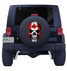 Canadian Skull Flag Tire Cover