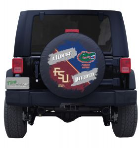 Ohio State Buckeyes & South Carolina Gamecocks House Divided Spare Tire Cover