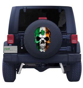 Irish Skull Flag Tire Cover