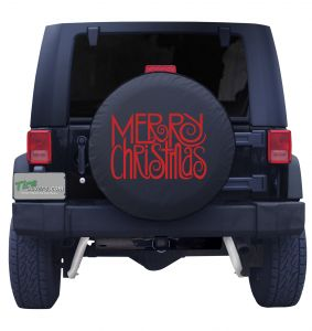 Merry Christmas Tire Cover Front