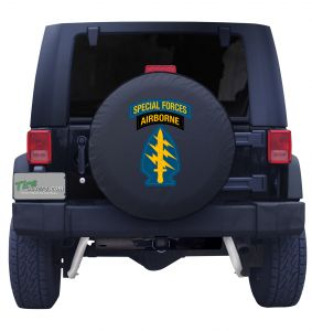 United States Army Special Forces Airborne Tire Cover Front
