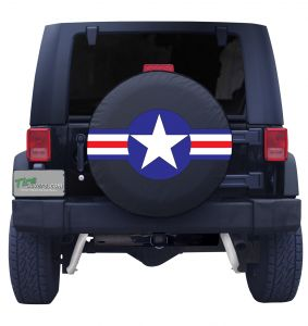 Military Star Round Tire Cover