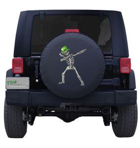 Dabbing Leprechaun Skeleton Spare Tire Cover Jeep Wrangler
