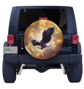 Divine Eagle Tire Cover Front