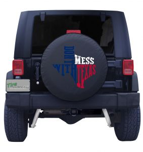 Don't Mess with Texas Spare Tire Cover Front