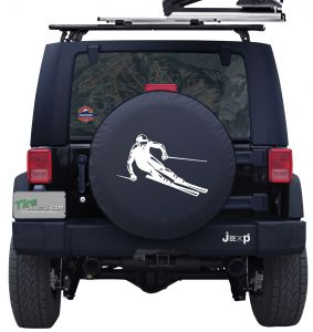 Downhill Ski Racer Custom Tire Cover