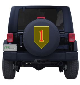 1st Infantry Division Combat Service Badge Custom Tire Cover
