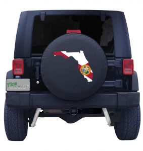 Florida State Outline Flag Tire Cover