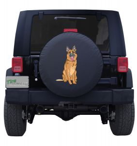 German Shepherd Puppy logo Spare tire cover Jeep Wrangler