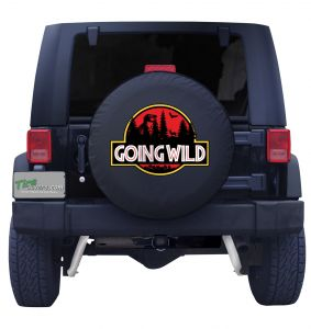 Going Wild Dinosaur Tire Cover