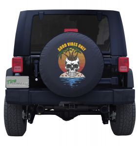 Good Vibes Only Custom Tire Cover