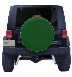 Plain Green Spare Tire Cover Front