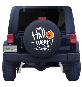 Halloween Skeleton Tire Cover