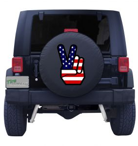 American Flag Peace Sign Front